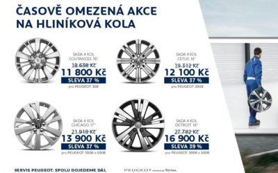SLEVA NA HLINÍKOVÁ KOLA PEUGEOT AŽ 39 %!
