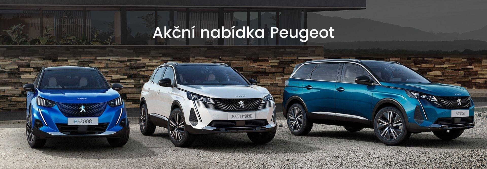 Akční nabídka vozů Peugeot